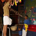 Syamasundara Prabhu & Kunjavihari Prabhu Decorating the Temple