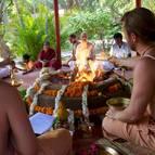 Giri Maharaja & Gaura Gopala Performing a Maha-mantra Yajna