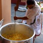 Madhumangala Prabhu Prepares a Rice Preparation