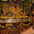 Kirtanananda Prabhu Offering Bhoga to the Deities