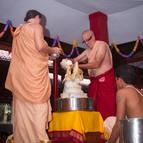 Abhiseka of Sri Sri Laksmi-Narasimha