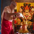 Srila Guru Maharaja Bathing Laksmi-Narasimha