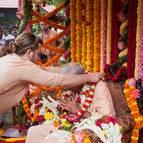 Gaura Gopala Prabhu Offering a Garland
