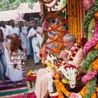 Vamanadeva Prabhu Offering Arati
