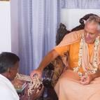 Madhava Dasa Receives His Beads