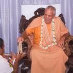 Ramadasa Receiving His Beads from Guru Maharaja