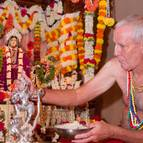 Guru Maharaja Covering Krsna with Sesame Paste