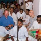 Kunja-vihari Leading Bhajanas With the Devotees