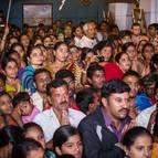 Guests and Devotees During the Arati