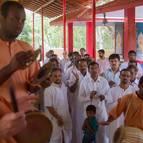 Devotees Singing the Glories of Srila Prabhupada