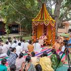 Devotees Assembled to Hear from Guru Maharaja
