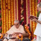 Vaisnavananda Prabhu Reading His Offering