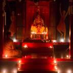 Srila Prabhupada's Samadhi at Night