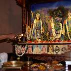 Sundara-Krsna Prabhu Offering Midday Arati to the Deities