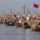 Boats at the Sangam