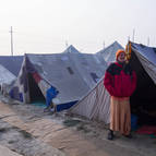Guru Maharaja at the Camp