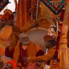A Float Carrying a Hindu Guru