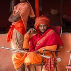 Sadhus at the Naga Camp