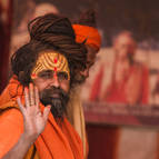 A Sadhu Giving Blessings