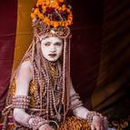 A Naga Covered in Rudraksa Beads