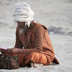 A Holy Man Reading Scripture