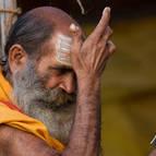 Old Man Applying Tilaka