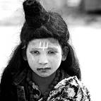 A Child Dressed as Siva