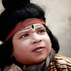 A Boy Dressed as Lord Siva