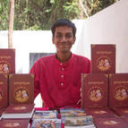 Bhakta Vishal at the Book Table