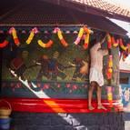 Syamasundara Prabhu Decorating the Temple