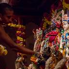 Kirtanananda Dasa Decorating the Deities