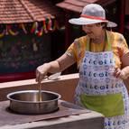 Dhira-Lalita Mataji Cooking Subji on the Roof