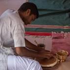 Chiranjeevi Making Sandalwood Paste