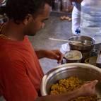 Rasikananda Dasa Making Laddus