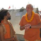Guru Maharaja Talking to Sacchidananda Prem Swamiji