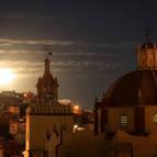 The Moon Setting Over Guanajuato