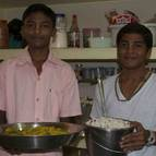 Madhu and Syama-kunda in the Kitchen