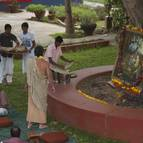 Preparations are Brought to be Offered to Sri Sri Gaura-Nitai