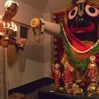 Balarama Dasa Offering Arati to Lord Jagannatha