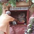 Guru Maharaja Offers Respects to Giriraja