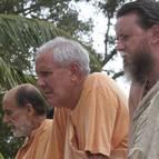 Guru Maharaja with Visnu Maharaja and Giri Maharaja