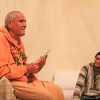 Guru Maharaja with Maitreya Prabhu