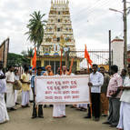 Sankirtana Starting at the Laksmi-Janardana Temple in Mandya