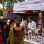 Mysore Devotees Selling Items in our Puja Stall