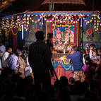 Guests Watching the Abhiseka