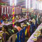 Guests Honouring Prasadam