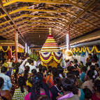 Guests Pulling the Ratha Around the Temple