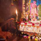 Guru Maharaja Offering Evening Arati