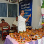 Babaji Offering Arati to Mahaprabhu