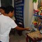 Devotees Offering Puspanjali